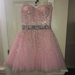 Light Pink Sherri Hill Short Formal